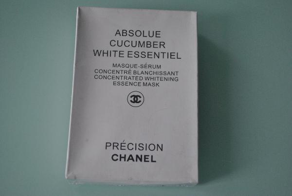 Маска для лица с биологическими элементами огурца Chanel Absolue Cucumber White Essentiel рус. перевод