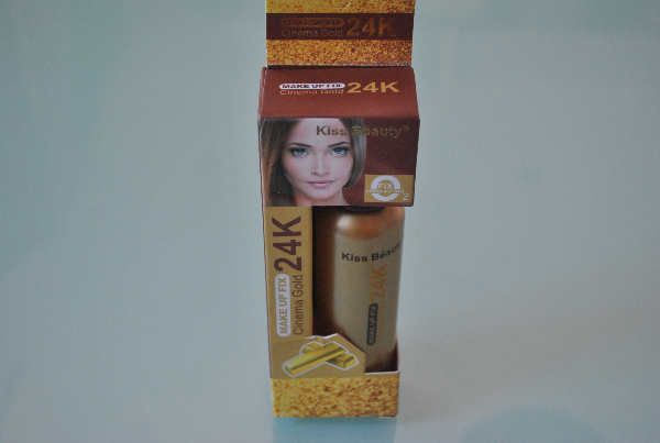 Фиксатор макияжа Kiss Beauty 24K Make Up Fix Cinema Gold 24K 80ml.