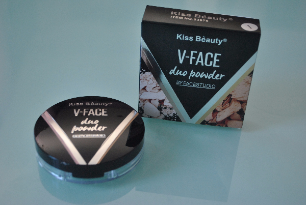 Пудра Kiss Beauty V-Face Duo Powder 2in1 9,5g.