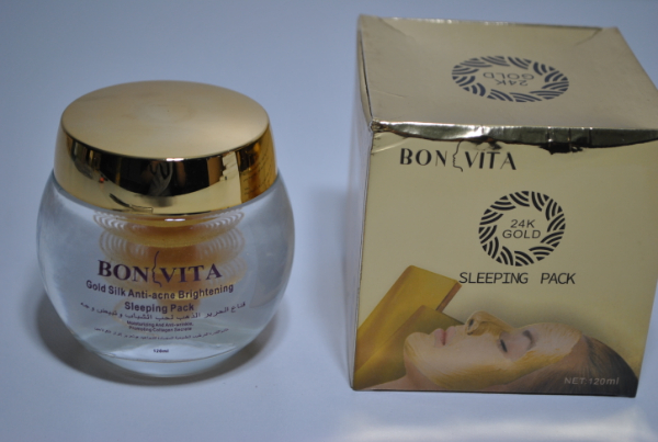 Ночная крем маска для лица Bonvita Gold Silk Anti-acne Brightening Sleeping Pack 120g. (елочка)